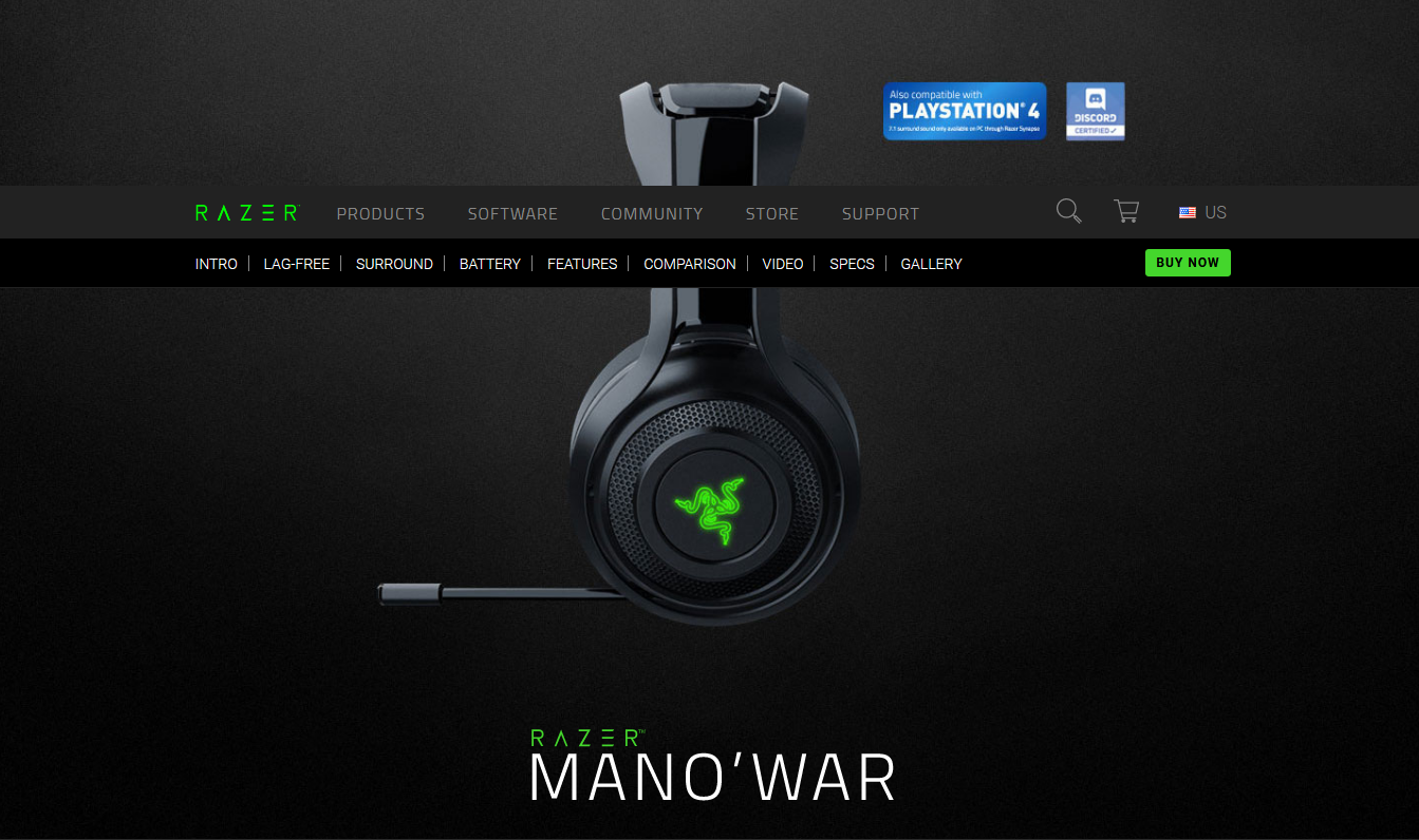 RAZER MANO' WAR - Wireless PC Gaming Headset